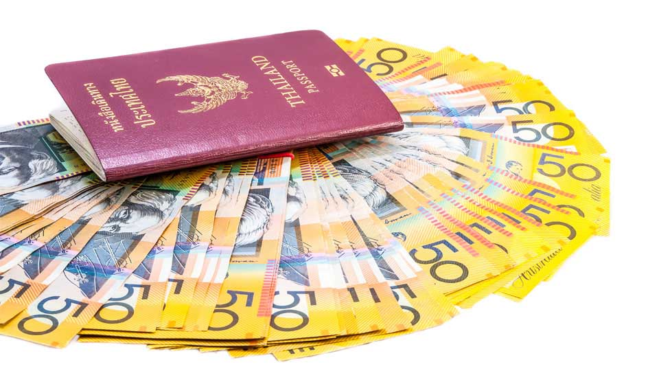 Australian tourist visa for wealthy Thai's only