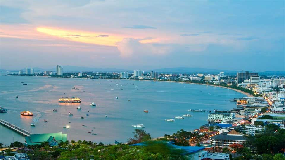 Pattaya City Coast Bird's Eye View