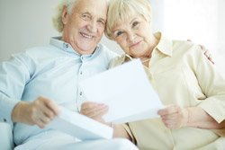 retired couple with proof of income letter