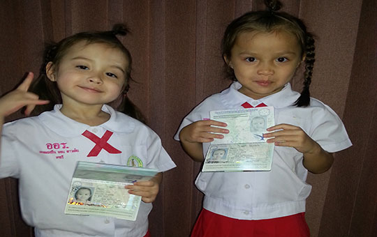 Half Thai Children With British Passports